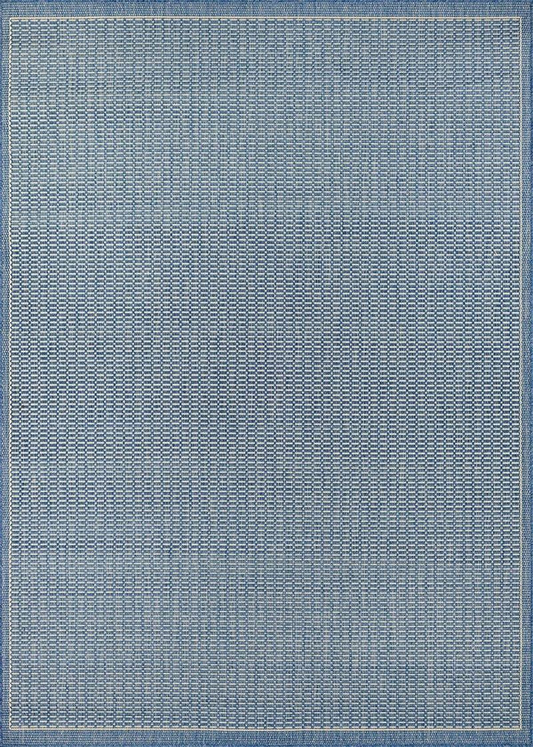 Couristan RECIFE SADDLESTITCH 1001-1212 CHAMPAGNE/BLUE Area Rug