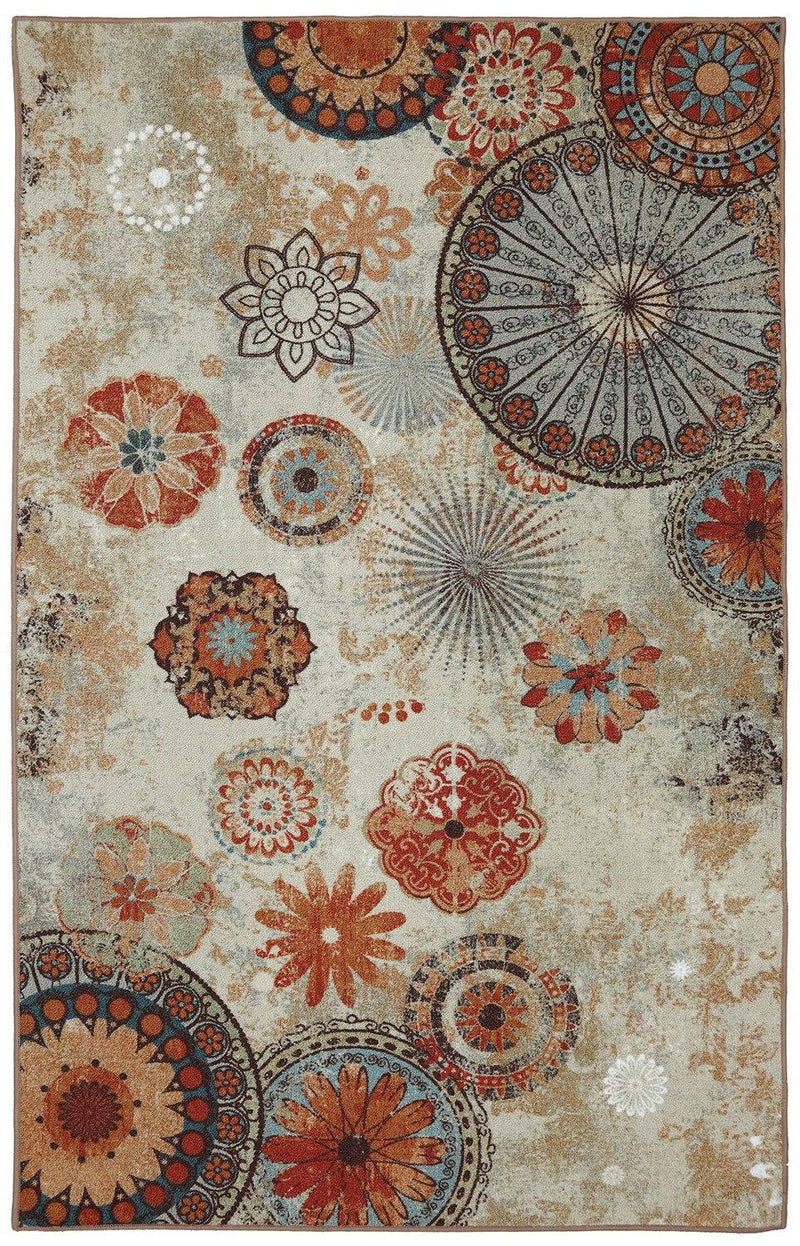 Mohawk Printed Indoor/ Outdoor Alexa Medallion Multi 11738-416 Area Rug