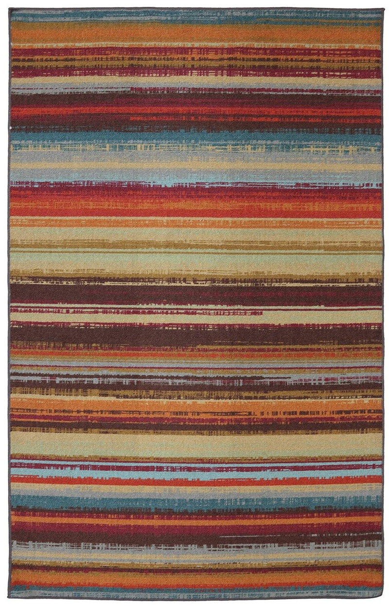 Mohawk Printed Indoor/ Outdoor Avenue Stripe Multi 11741-416 Area Rug