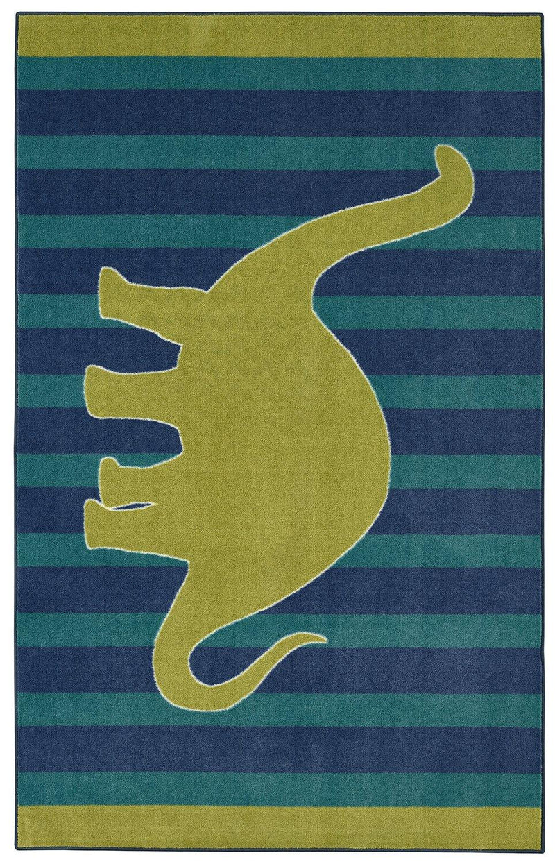 Mohawk Aurora (Kids) Friendly Dinosaur Blue 12388-439 Area Rug