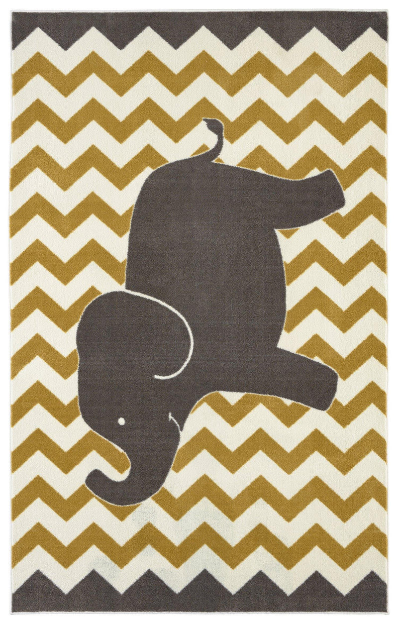 Mohawk Aurora (Kids) Lucky Elephant Yellow 12391-432 Area Rug