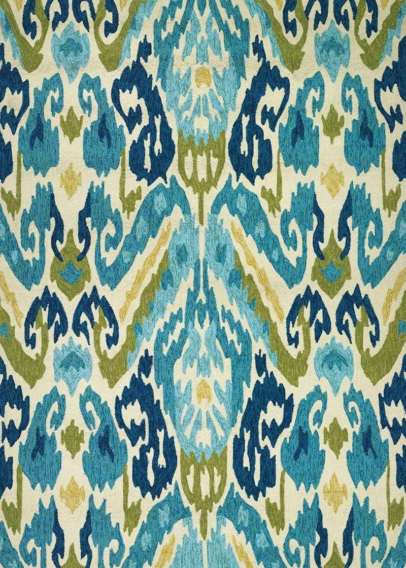 Couristan COVINGTON DELFINA 2263-0702 AZURE/LEMON Area Rug