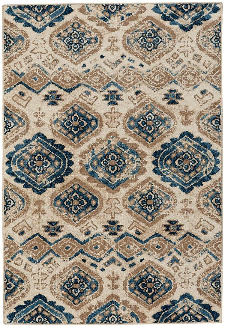 Capel Bethel-Diamond 2462-640 Taupe Blue Area Rug