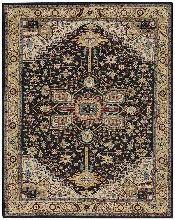 Capel Smyrna-Serapi 3158-350 Ebony Yelloy Area Rug