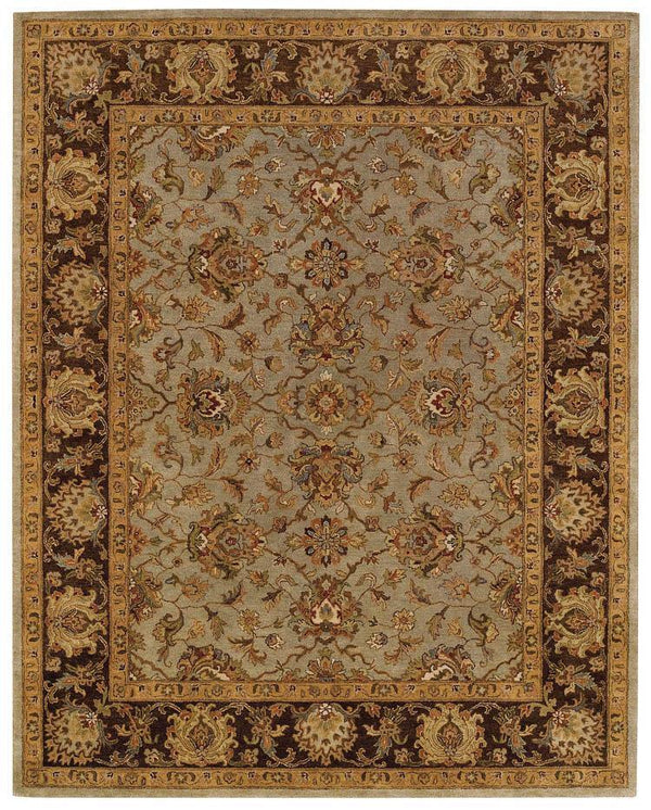 Capel Monticello-Meshed 3313-200 Honeydew/Chocolate Area Rug