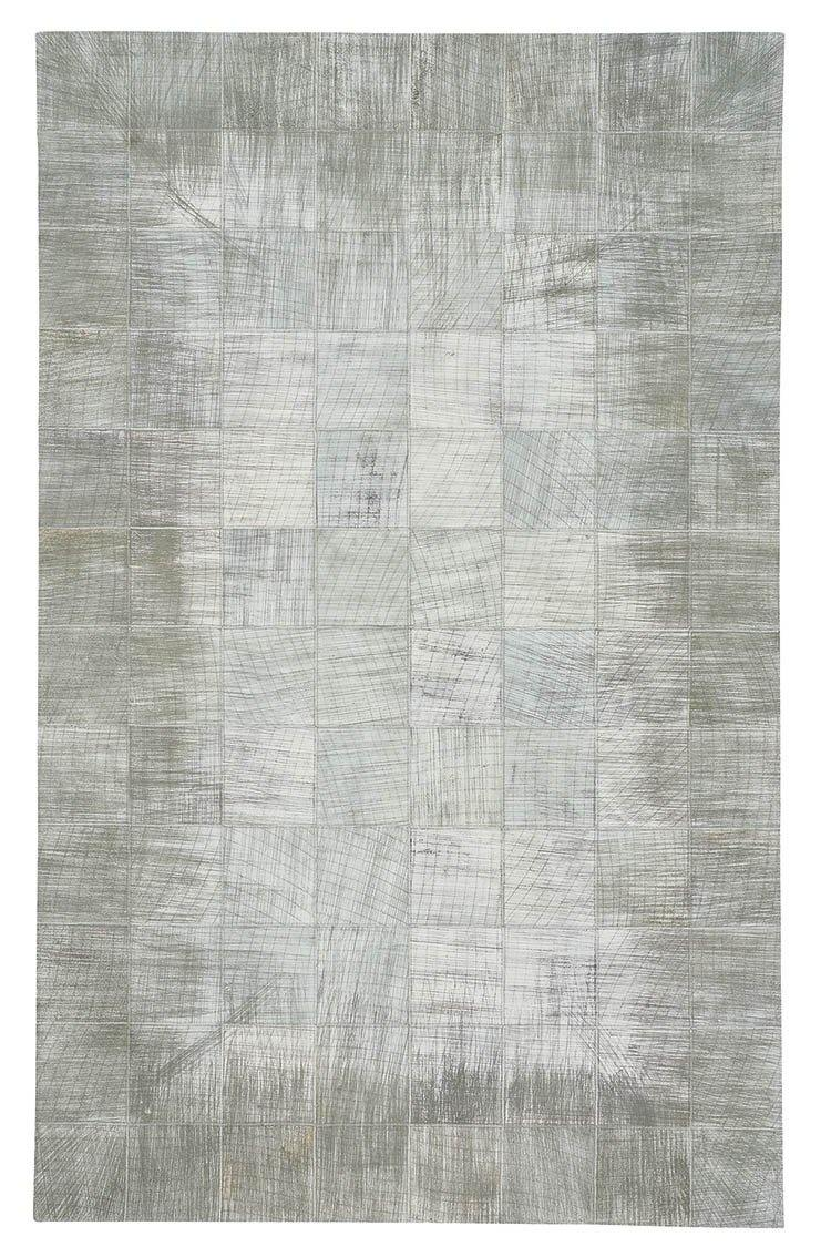 Capel Butte-Brushed Blocks 3675-320 Silver Area Rug