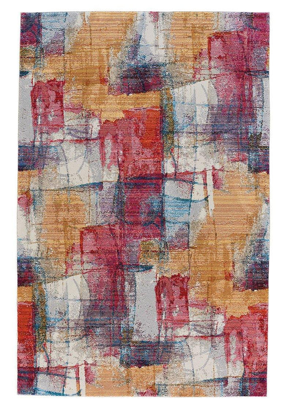 Capel Flame-Canvas 3812-595 Ruby Area Rug