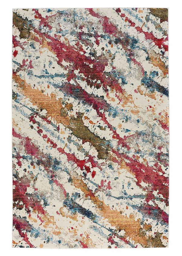 Capel Flame-Splatter 3814-675 Ivory Area Rug