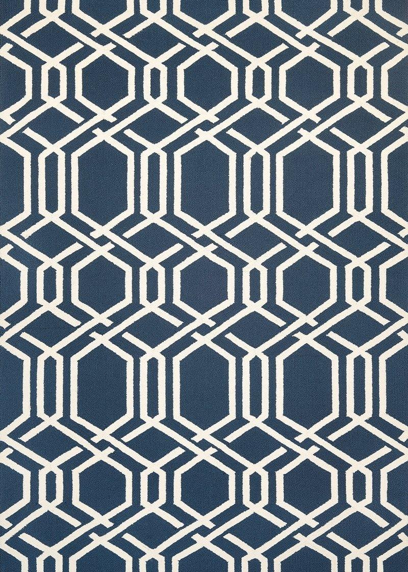 Couristan COVINGTON ARIATTA 3895-0953 NAVY Area Rug