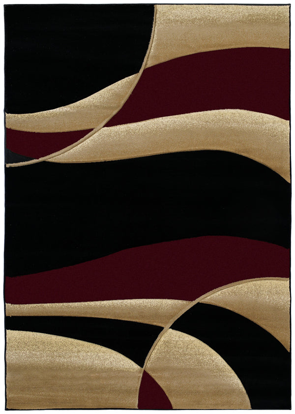 United Weavers Contours Avalon 510-22834 Burgundy Area Rug