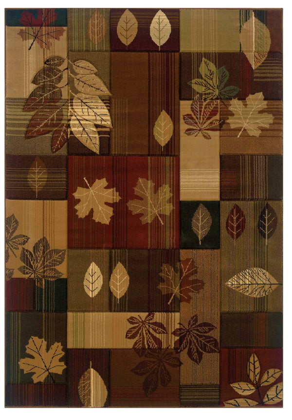 United Weavers Designer Contours CEM Autumn Bliss 511-25159 Toffee Area Rug