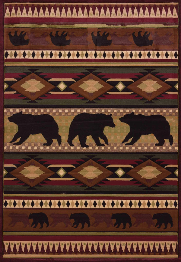United Weavers Designer Contours John Q. Native Bear 512-25859 Toffee Area Rug