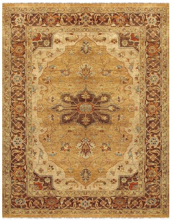 Feizy Ustad 6112F Gold/Brown Area Rug - The Rug Store