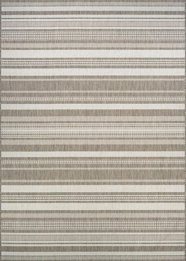 Couristan RECIFE GAZEBO STRIPE 5313-2312 CHAMP/TAUPE Area Rug