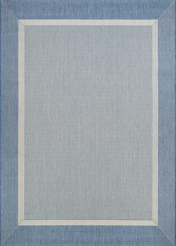 Couristan RECIFE STRIA TEXTURE 5526-1212 CHAMPAGNE/BLUE Area Rug