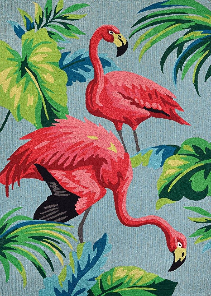 Couristan COVINGTON FLAMINGOS 6177-0220 MULTI Area Rug