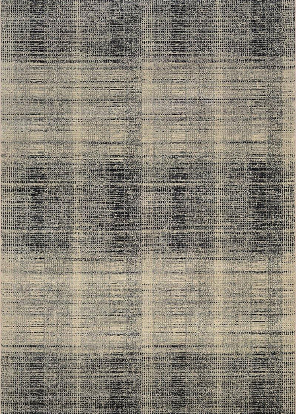 Couristan EASTON SUFFOLK 6327-6823 BLACK/GREY Area Rug