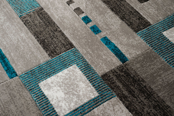 United Weavers Studio Percussion 710-00263 Aqua Area Rug