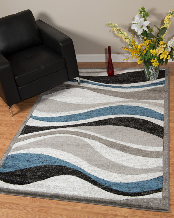 United Weavers Studio Silica 710-00761 Denim Blue Area Rug