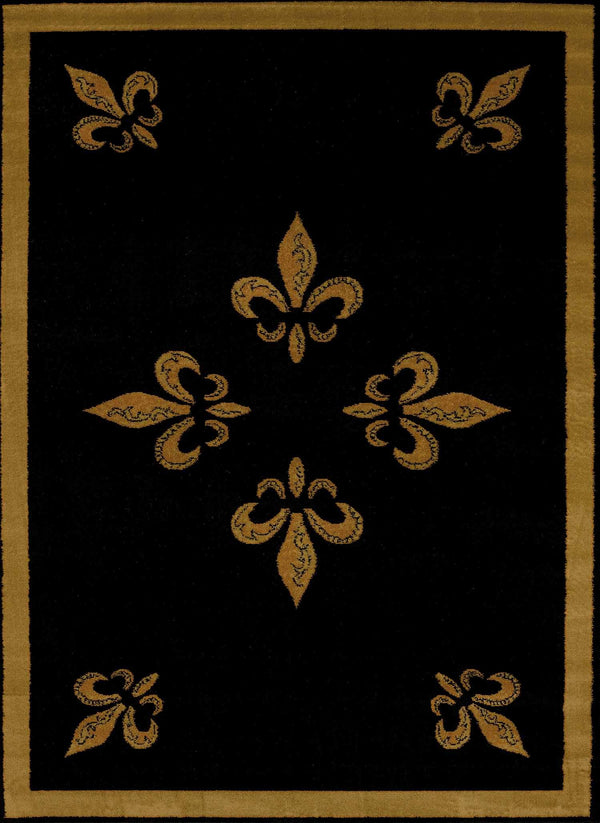 United Weavers Affinity FDL 750-00570 Black Area Rug