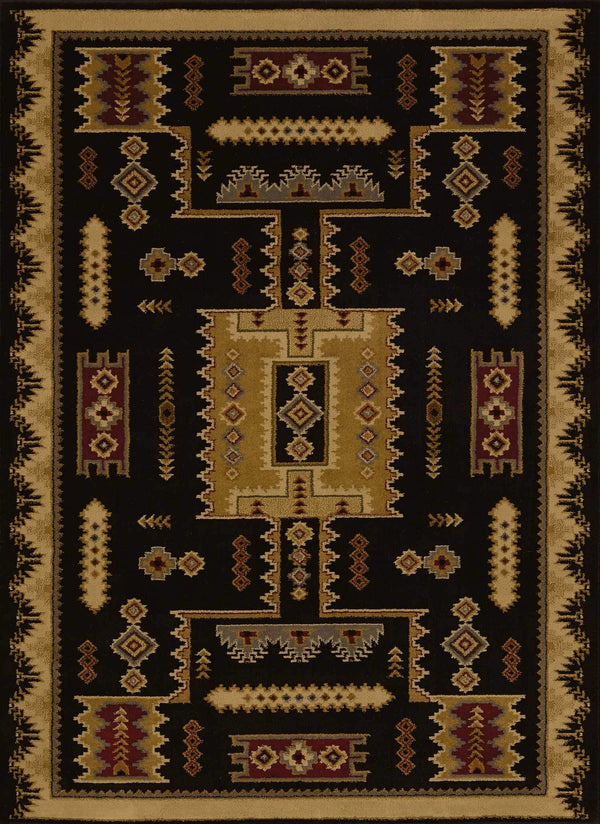 United Weavers Affinity Coltan 750-01870 Black Area Rug
