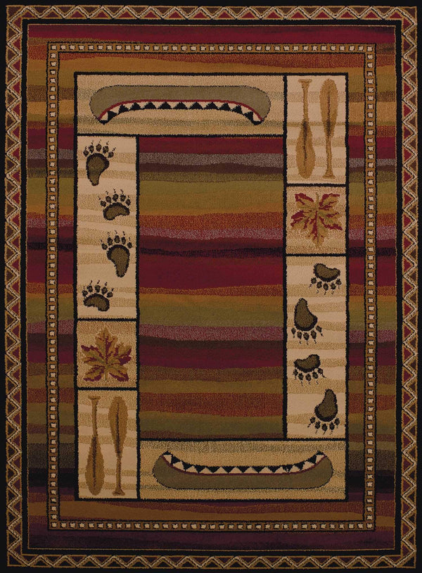 United Weavers Affinity Canoe Sunset 750-04043 Lodge Area Rug