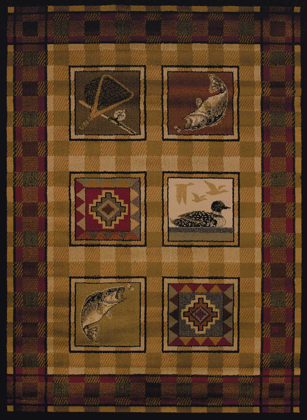 United Weavers Affinity Lodge Stamp 750-04143 Lodge Area Rug