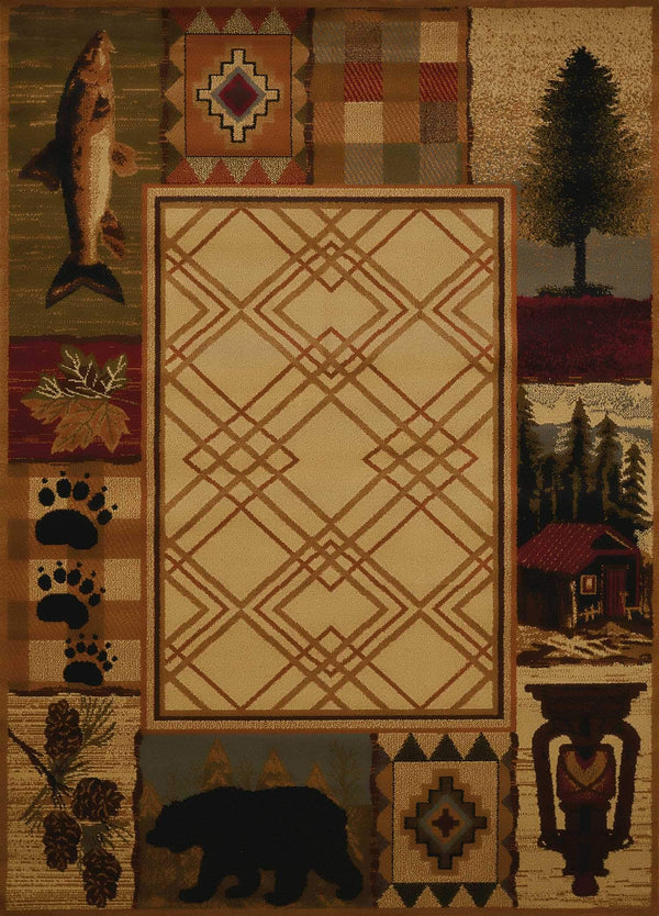 United Weavers Affinity Mountain Lake 750-05117 Natural Area Rug