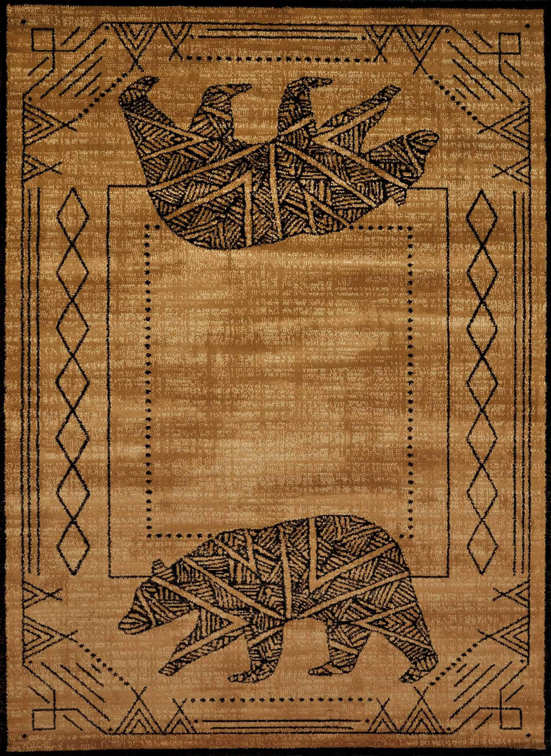 United Weavers Affinity Bear Cave 750-05618 Gold Area Rug