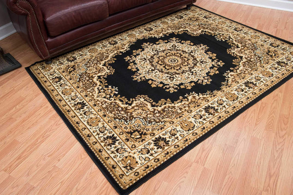 United Weavers Dallas Floral Kirman 851-10170 Black Area Rug