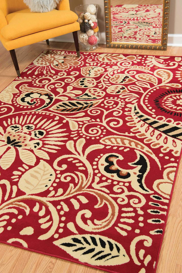 United Weavers Dallas Bandanna 851-11030 Red Area Rug