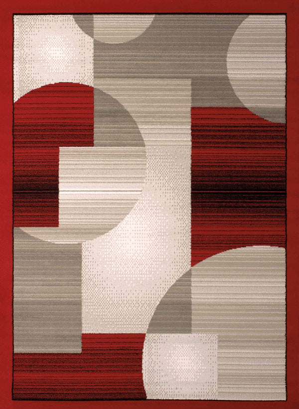 United Weavers Dallas Zoom Zoom 851-11130 Red Area Rug
