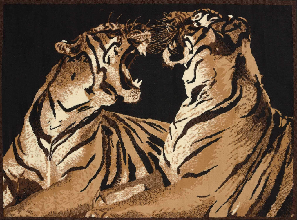 United Weavers Legends Double Tigers 910-01450 Multi Area Rug