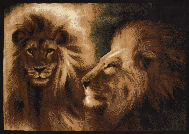 United Weavers Legends Lion Profile 910-02250 Multi Area Rug