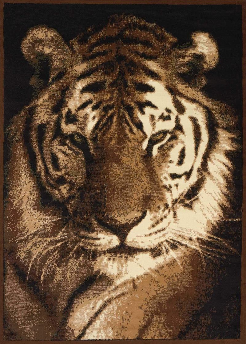 United Weavers Legends Tiger Portrait 910-02450 Multi Area Rug
