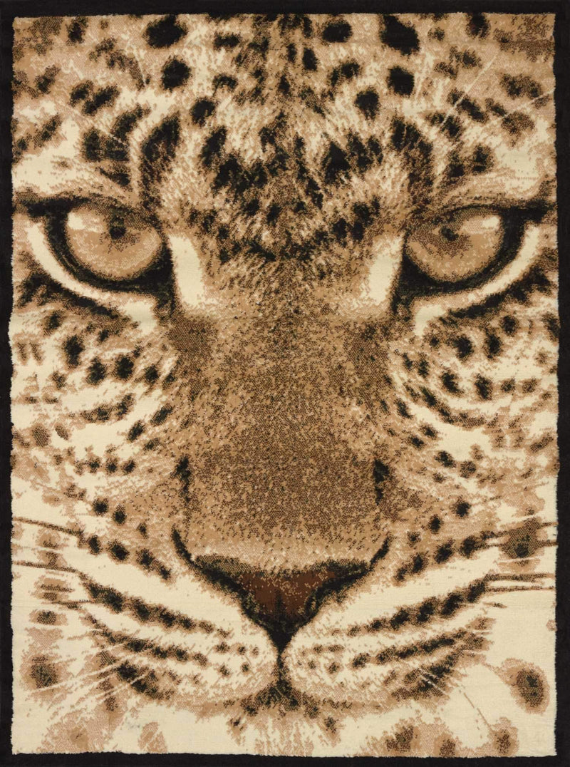 United Weavers Legends Leopard Face 910-02750 Multi Area Rug