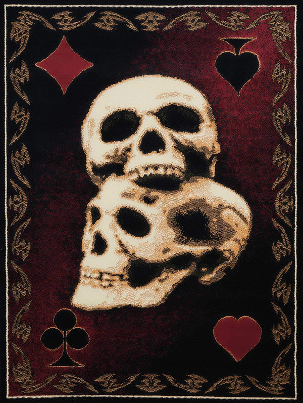 United Weavers Legends Skulls 910-06130 Multi Area Rug
