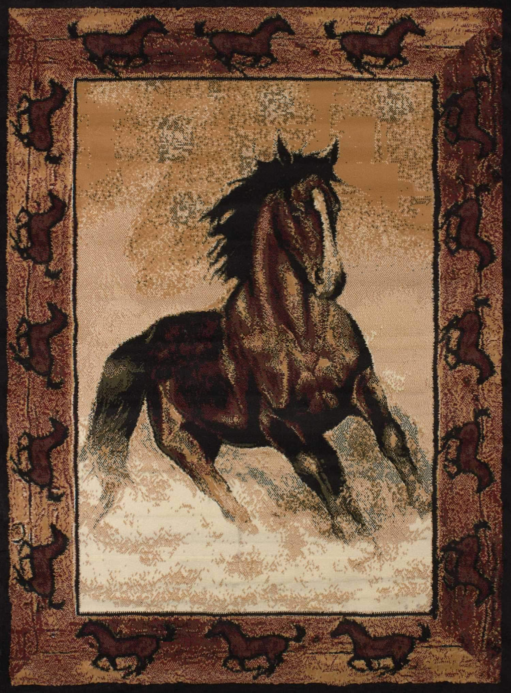 United Weavers Legends Stallion Border 910-06930 Multi Area Rug