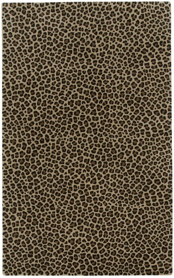 Capel Expedition-Leopard 9290-700 Cocoa Area Rug