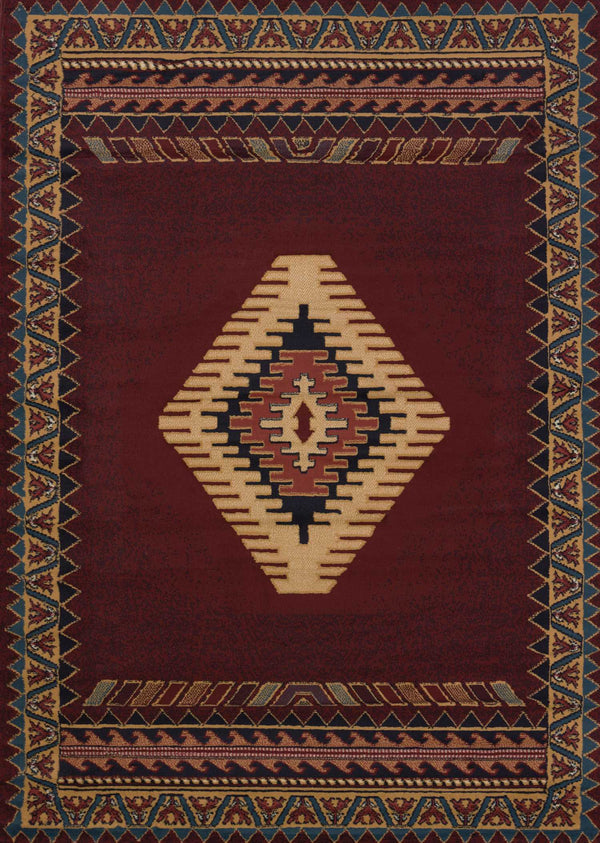 United Weavers Manhattan Tucson 940-27034 Burgundy Area Rug