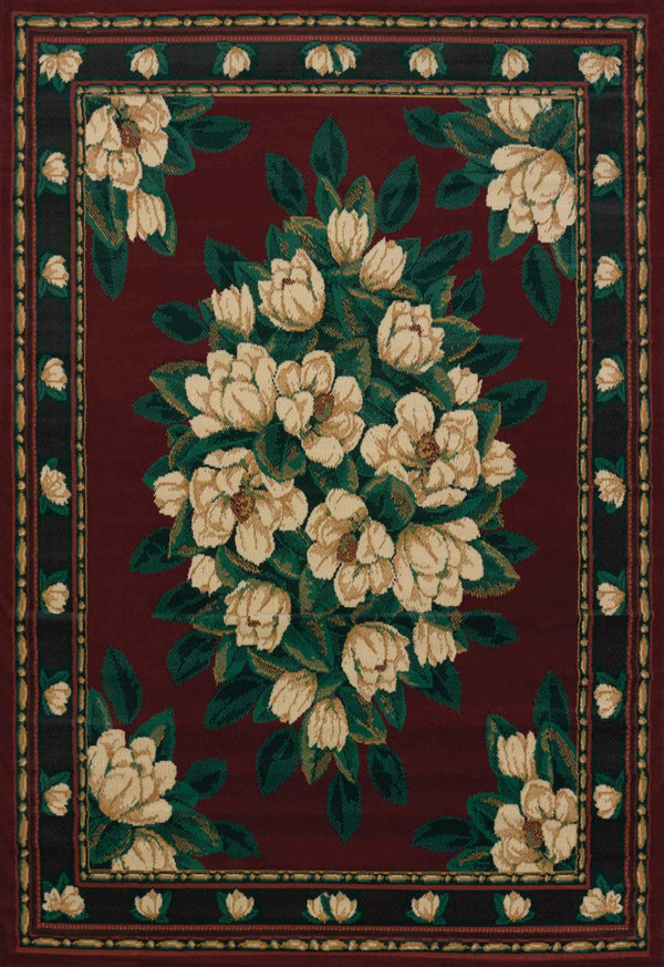 United Weavers Manhattan Magnolia 940-37034 Burgundy Area Rug