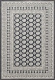 Dynamic Rugs ANCIENT GARDEN 57102 CHARCOAL/SILVER 3636 Area Rug - rug store usa
