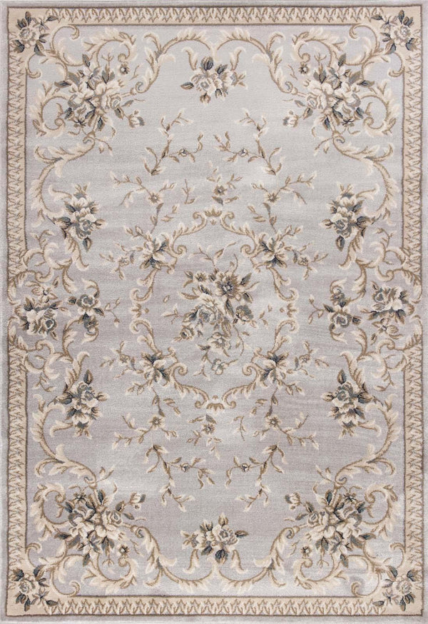 kas rugs Avalon Light Grey Aubusson 5604 Light Grey Area Rugs