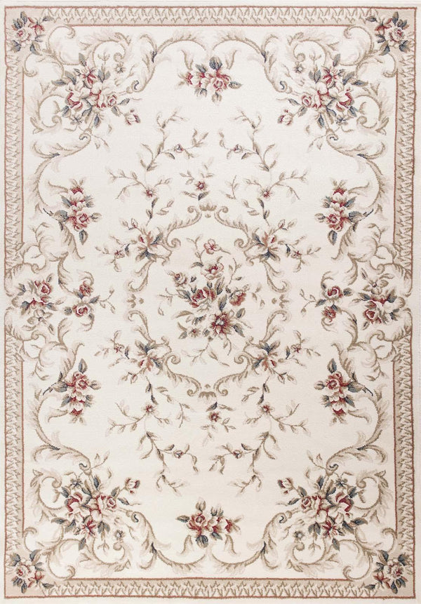 kas rugs Avalon Ivory Aubusson 5606 Ivory Area Rugs