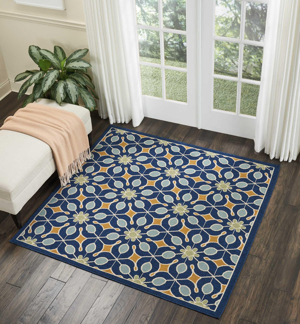 Nourison CARIBBEAN CRB07 NAVY Area Rug