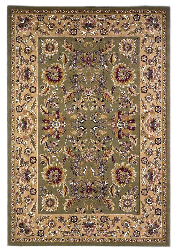 kas rugs Cambridge Green/Taupe Kashan 7304 Green/Taupe Area Rugs