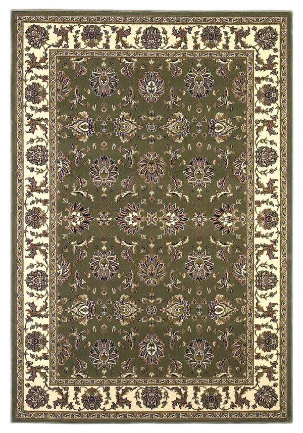 kas rugs Cambridge Green/Ivory Kashan 7314 Green/Ivory Area Rugs