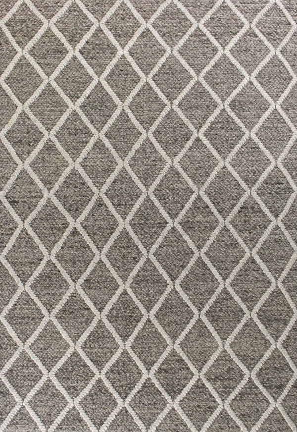 kas rugs Cortico Dark Grey Diamonds 6162 Dark Grey Area Rugs