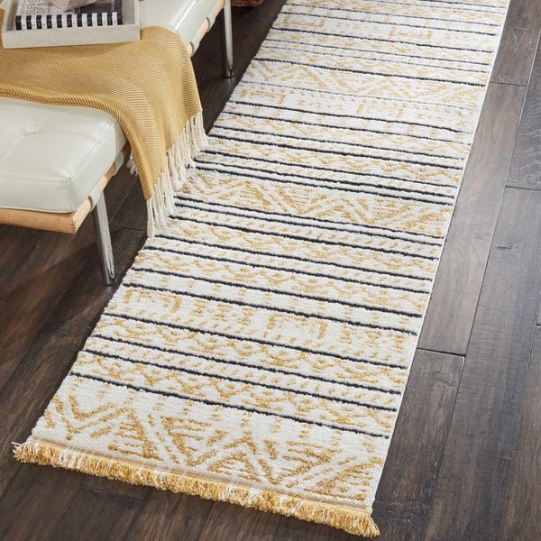 Nourison DWS05 KAMALA DS503 YELLOW Area Rug