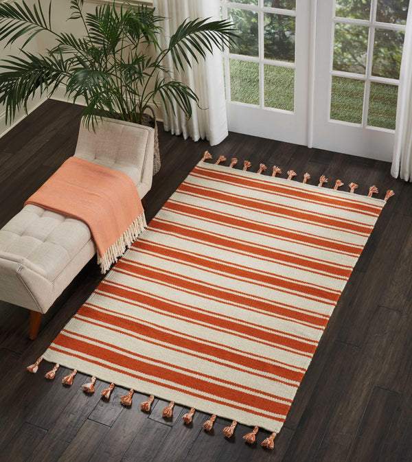 Nourison RIO VISTA DST01 IVORY/ORANGE Area Rug